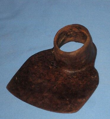 Vintage Iron Garden Grub Hoe Head Antique Farm Tool Digger Yard Art Primitive!