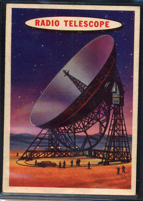 1957 Topps Space Cards #9 Radio Telescope (EX) *689716