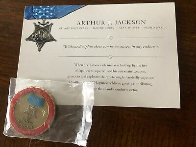 Arthur J Jackson Medal of Honor Challenge Coin, Collectible