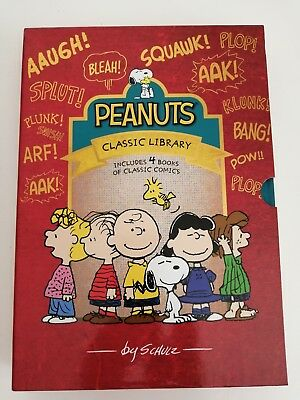 Classic Snoopy Peanuts Comics Collection 4 books Classic Treasury