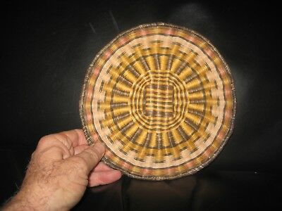 Hopi Wicker Basket Native American Indian Tray Hand Woven Weaving~ Low Start !
