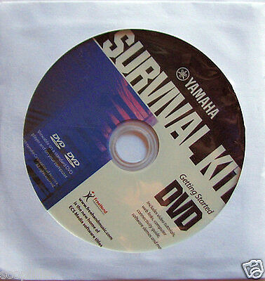 Yamaha Survival Kit DVD, New, for Your Computer DVD-ROM, for use with Keyboards