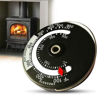 Home Magnetic Stove Flue Pipe Stove Pipe Thermometer Wood Log Burner Temp Gauge