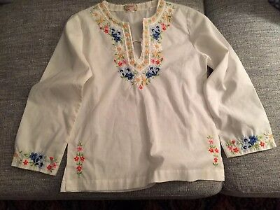 Traditional Swiss Embroidered Blouse Girls Size 10