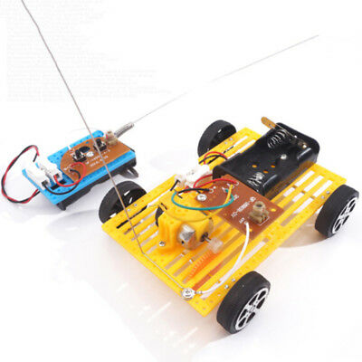 Motor Wireless Remote Control Car Kit Toy Children Assembly Model Electric 5V