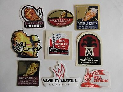 Oilfield Rig Boots Coots Red Adair Wild Well Control and crane hardhat sticker2