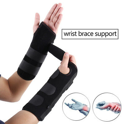 2PCS Wrist Hand Brace Carpal Tunnel Support Splint Band for Pain Relief Injury