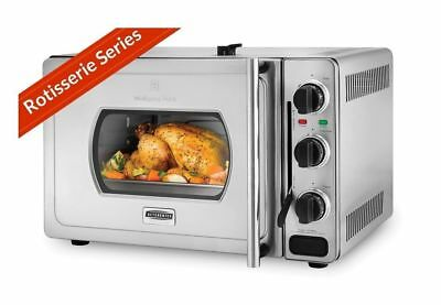 NEW Wolfgang Puck Pressure Oven Rotisserie 29-Liter Stainless Steel -