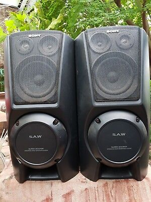 Set Of Sony SAW  Woofer Speakers