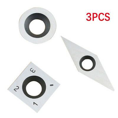 Square Round Radius Carbide Cutter Insert For Wood Working Turning Tool,3 Pcs