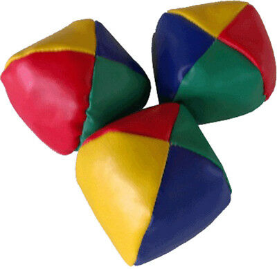 Juggling Balls Circus Clown Coloured Learn to Juggle Toy Game Soft Pack Of 3 UK