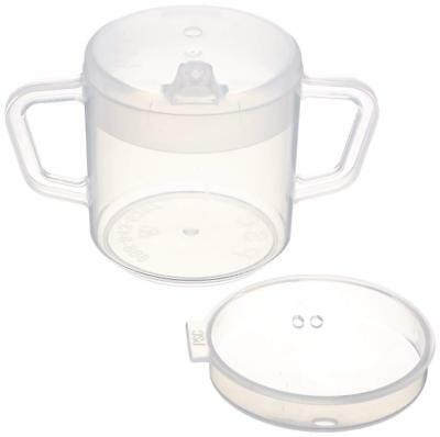 ❤ Sammons Preston Independence Two-Handled Cup With 2 Lids Lightweight Drinking