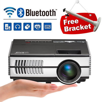 Portable Mini LED Android Wifi Bluetooth Video Projector Home Cinema Games HDMI