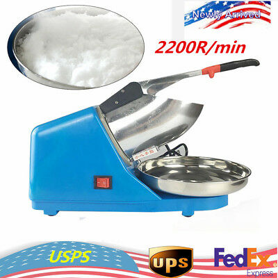 Electric Snow Cone Commercial ice Shaver/Maker/Crusher 2200R/min+FAST SHIP