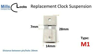 Steel Clock Pendulum Suspension Spring. (28mm x 7mm x 14mm) (Type M1)