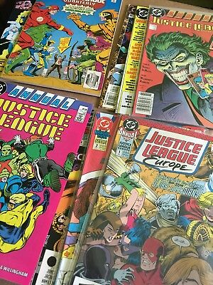 Justice League Annual Lot Of 14. DC Comics. Plus Quarterly. (1987+)