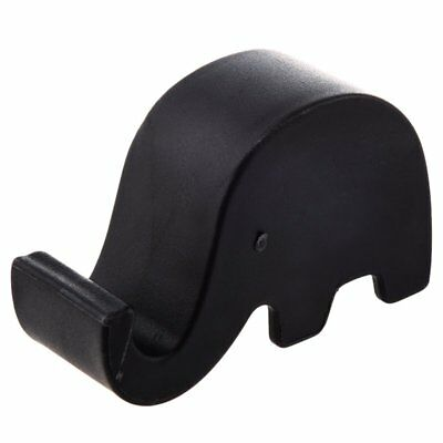 Cell Phone Mini Elephant Holder Stand MP3 For iPhone 5/4S/Samsung Black R5Q3