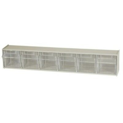 Akro-Mils 06706 TiltView Horizontal Plastic Storage System with Six Tilt Out Bi