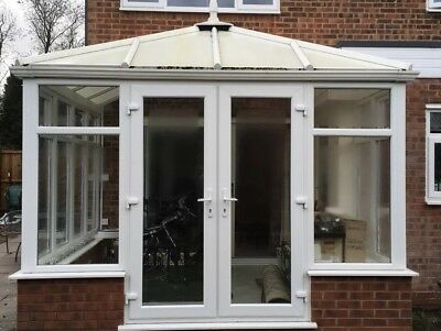 Used double glazed white upvc conservatory - DISMANTLE AND COLLECT ONLY