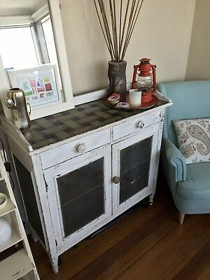 Vintage Shabby Chic Meat Safe Cupboard