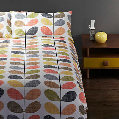 *NEW WITH TAGS* Orla Kiely Scribble Multi Duvet Cover Set with Pillowcases