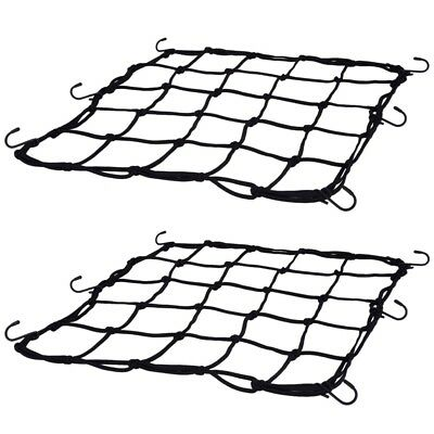 2 Pack Elasticated Cargo Nets Bicycle Motorcycle Luggage Nets Helmet Nets wit D5