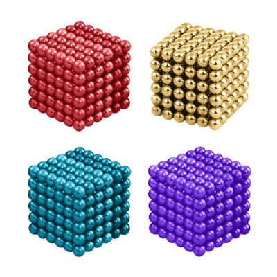 216Pcs 3/4/5mm Magic Magnets Ball Neodymium Sphere 3D Puzzle Cube Stress Relief