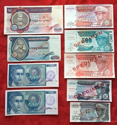 Lot  SPECIMEN  Banknotes from Countries Paper Money VERE RARE
