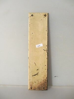 Vintage Wooden Finger Plate Push Door Handle Architectural Antique Old