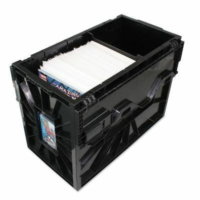 BCW Plastic Comic Book Storage Box 4 partitions included!!! Black Heavy Duty