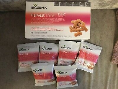 Isagenix Harvest Thins Plant Based X 16 Thai Sweet Chilli