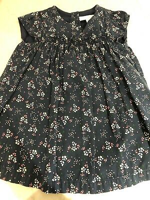 The Little White Company Navy Floral Dress Size 6-9 Months