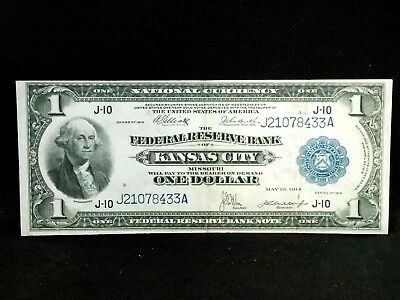 "1918 $1 Federal Reserve Bank Note ""KANSAS CITY"" Fr# 739  ECC&C, Inc."