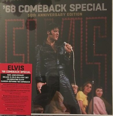 Elvis Presley 68 Comeback Special 50Th Ann Edition Box 5 Cd 2 Dvd Blu Ray Scellé