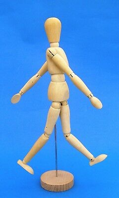 FLEXABLE WOODEN ARTISTS MANNEQUIN DOLL- 12 Inches tall NEW