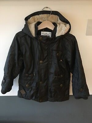 Toddler Boy's Next Jacket Coat With Faux Fur Lining. 18-24 Months.