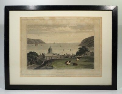 Rare Georgian Antique Engraving of Cromarty Dornach Scottish North East Coast.
