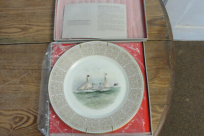 Confederate Civil War Limited Edition Lenox China Plate Blockade Runner 1971