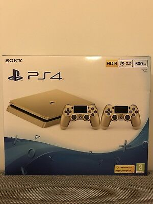 Gold PS4 Slim Sony PlayStation Limited Edition UK seller BRAND NEW / RARE