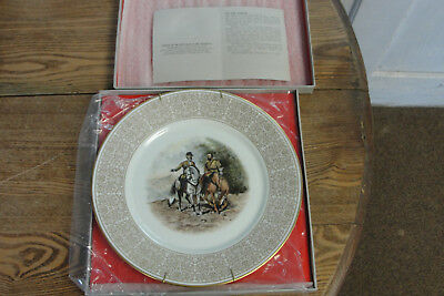 Confederate 1971 Civil War Limited Edition Lenox China Plate Lee and Jackson