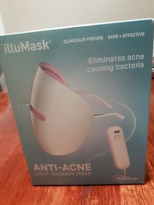 illuMask Anti-Acne Light Therapy Mask Clearer Smoother Skin Less Redness Tone