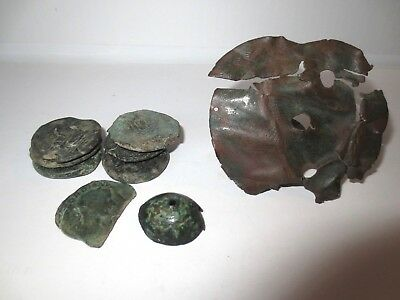 Lot Of 32 Ancient Roman Coins And 2 Bronze Roman Artifacts