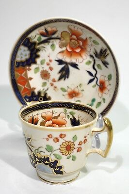 Rare Georgian Antique English Imari China Cup & Saucer.