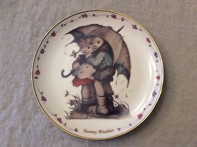 "1992 M.J. Hummel Collectors Plate Danbury Mint ""Stormy Weather"" #Q2522 - Ltd Ed."