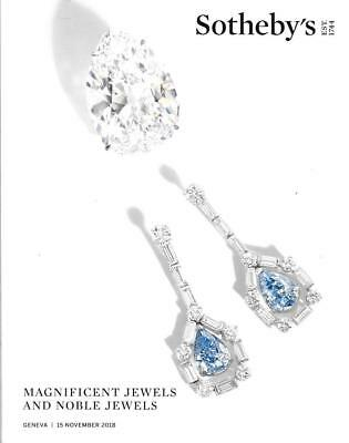 Sotheby's Magnificent Noble Jewels Geneva Auction Catalog Novembe 2018