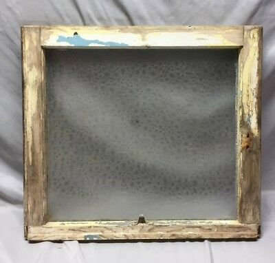 Antique Florentine Privacy Glass Window Sash Shabby Vintage Chic 21X24 91-19C