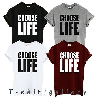 Choose Life T-shirt Inspired by Wham Replica George Michael 80s Retro Fancy Tops