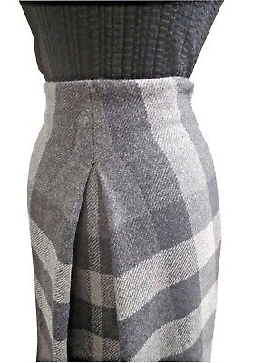 15e168d28a GONNA DA DONNA BURBERRY check grigio 100% lana MADE IN ITALY ULTIMO tag. 38  eur