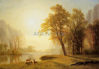 Albert Bierstadt Kings River Canyon California Artist Painting Reproduction Oil
