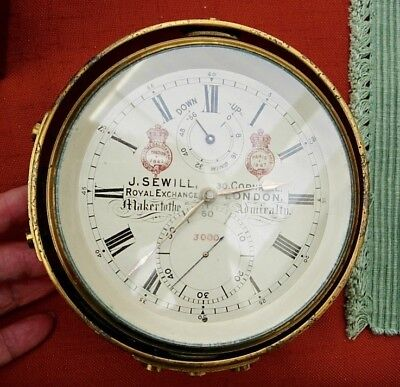 J SEWILL CHRONOMETER in ORIG WOOD BOX 1867 INTERNT EXHIBIT